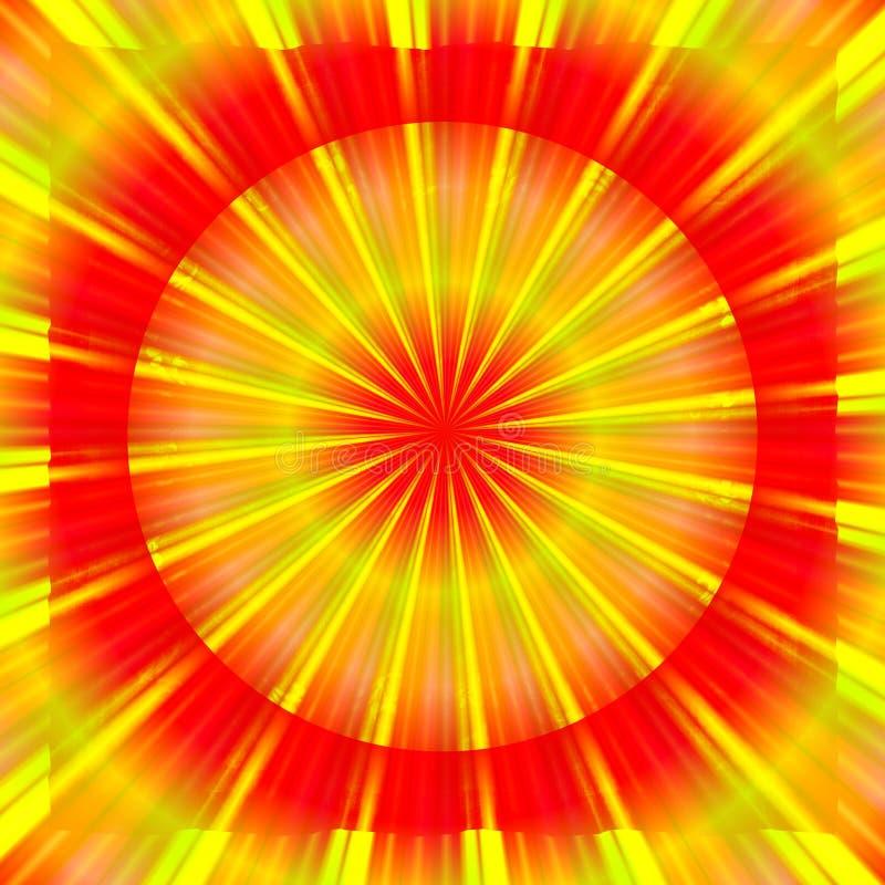 Burst luminoso del sole illustrazione vettoriale