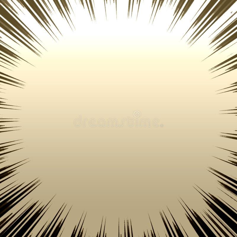Burst metallico di Grunge royalty illustrazione gratis