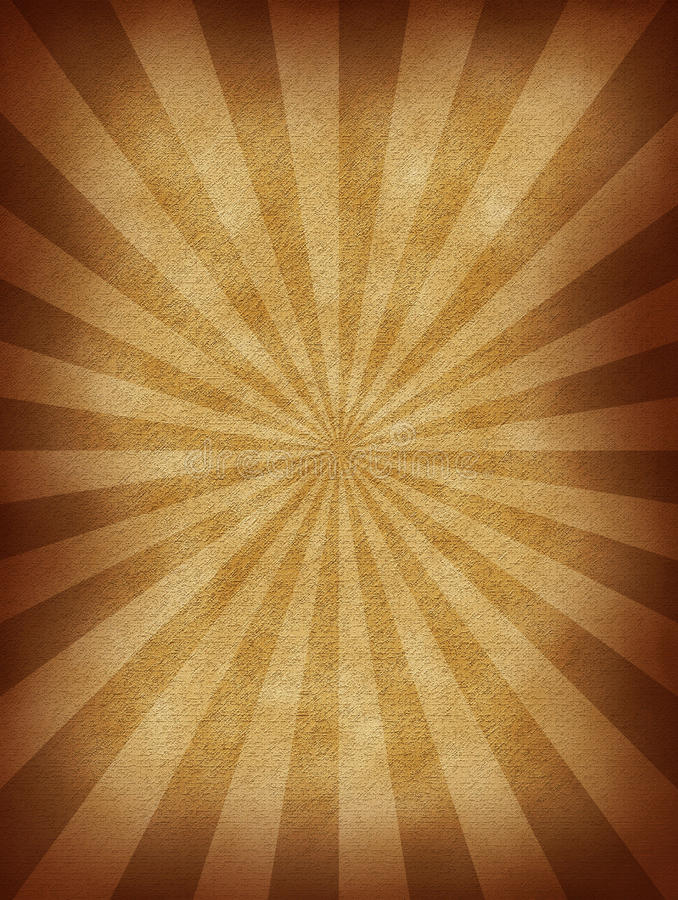 Burst Paper. This is a burst pattern on a vintage paper texture stock illustration