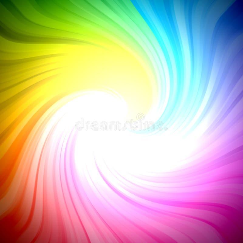 Burst scintillante dell'indicatore luminoso di colori del Rainbow illustrazione vettoriale