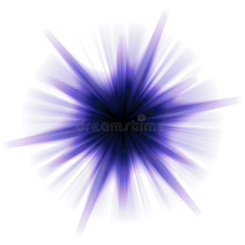 Burst solare della stella royalty illustrazione gratis