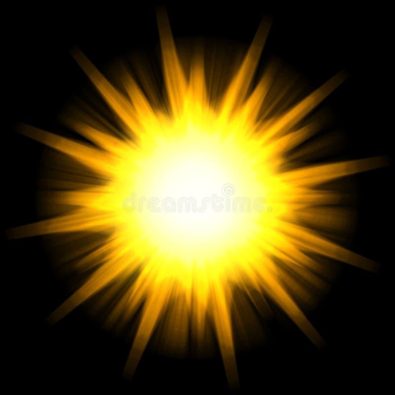 Burst solare della stella illustrazione di stock