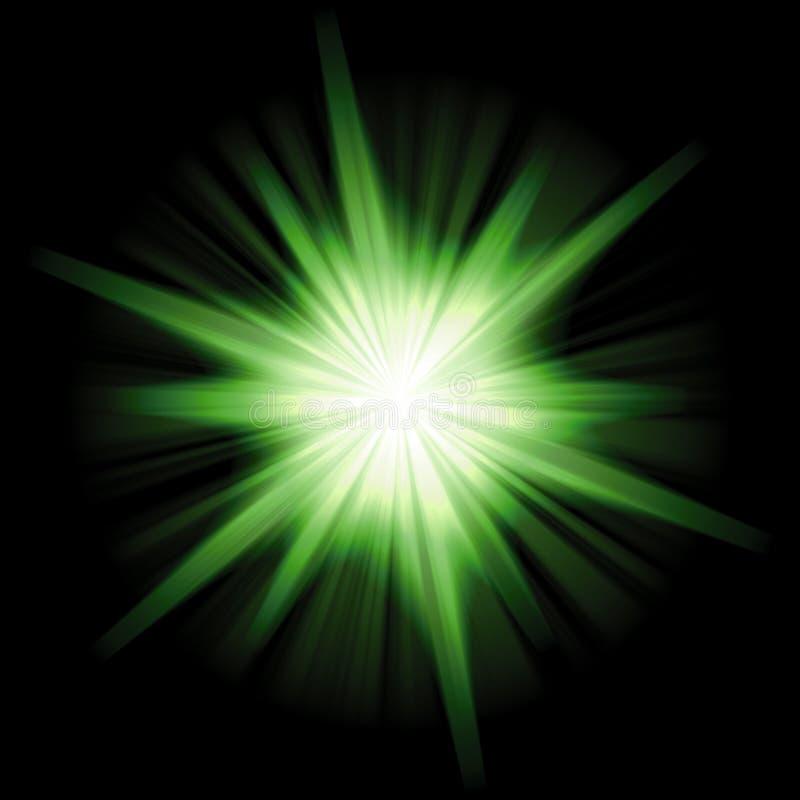 Burst solare della stella illustrazione vettoriale