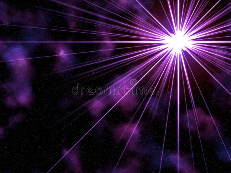 Burst viola della stella illustrazione di stock
