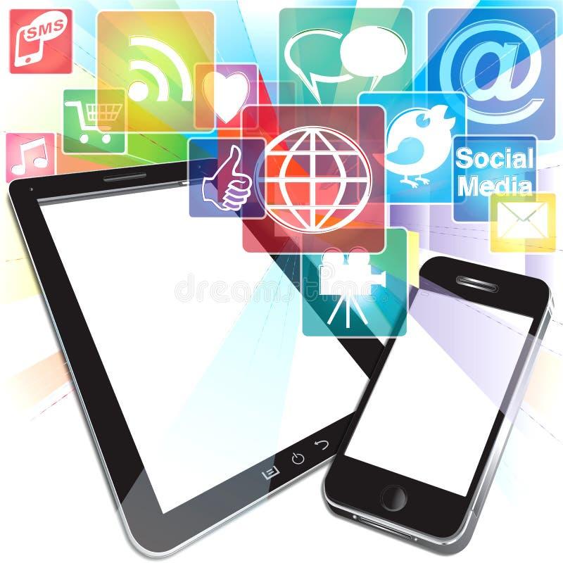 Bursting App Icons Stock Photos