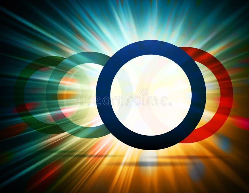 Bursting circles stock illustration