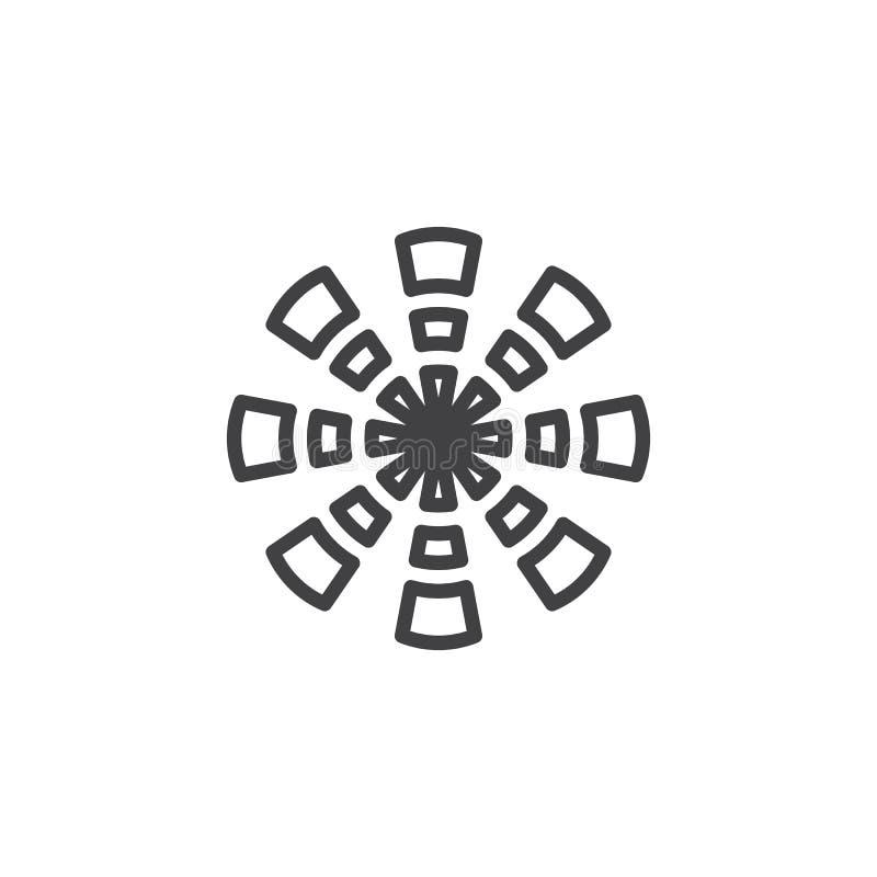 Bursting firework line icon. Linear style sign for mobile concept and web design. Firework explosion outline vector icon. Symbol, logo illustration. Pixel stock illustration