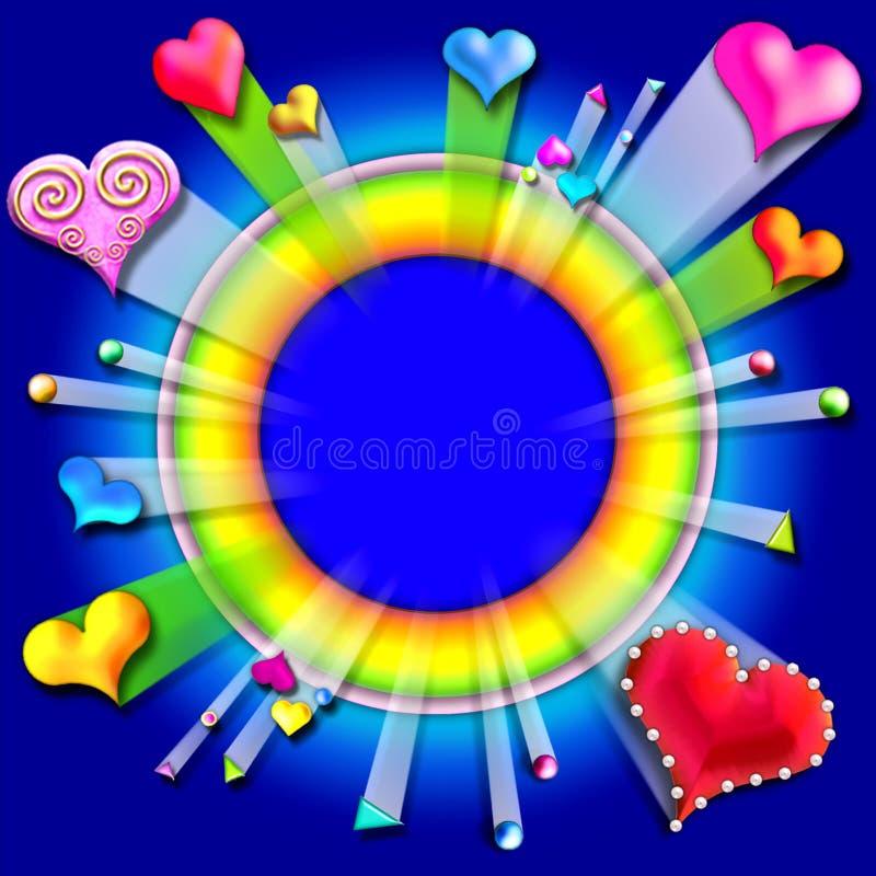 Download Bursting Love Valentine's Frame5 Stock Illustration - Image: 478789