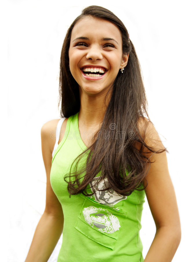 Download Bursting out laughing stock photo. Image of teenager, girl - 8951936