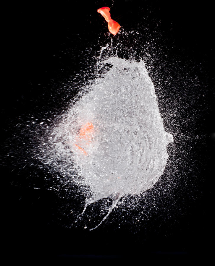 Bursting water balloon royalty free stock image