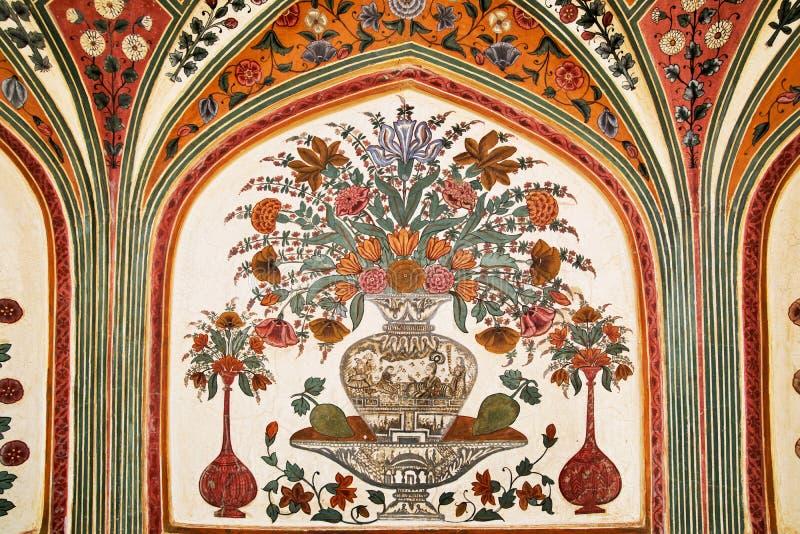 bursztyn dekorująca szczegółu fortu brama obraz stock