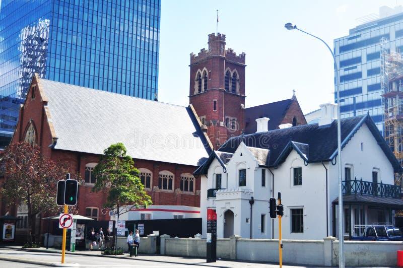 Burta Memorial Hall w katedra kwadracie na St Georges tarasie w Perth, Australia obraz stock