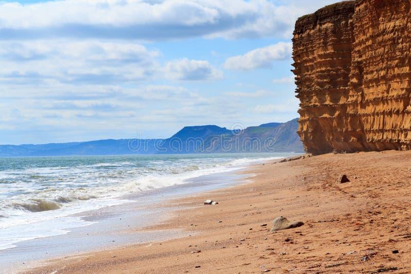 Burton Bradstock Beach Dorset fotografering för bildbyråer