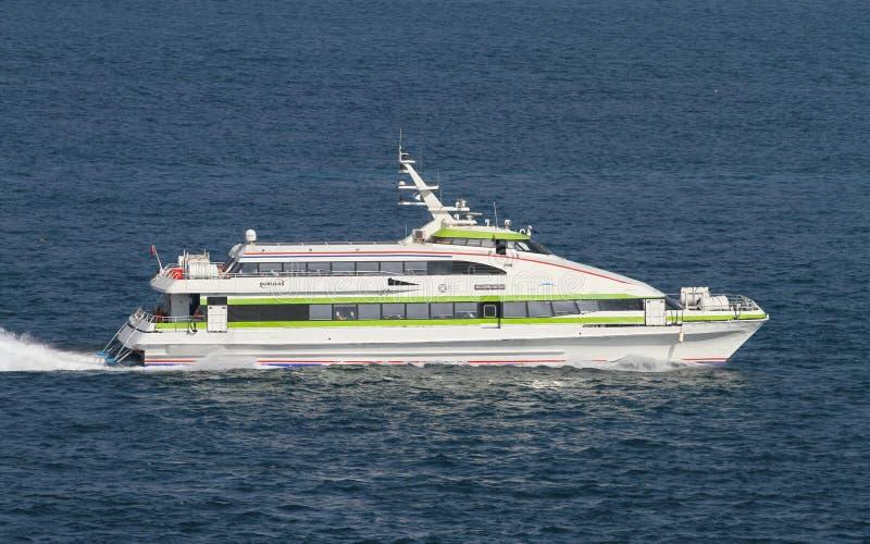 Burulasveerboot in Istanboel royalty-vrije stock fotografie