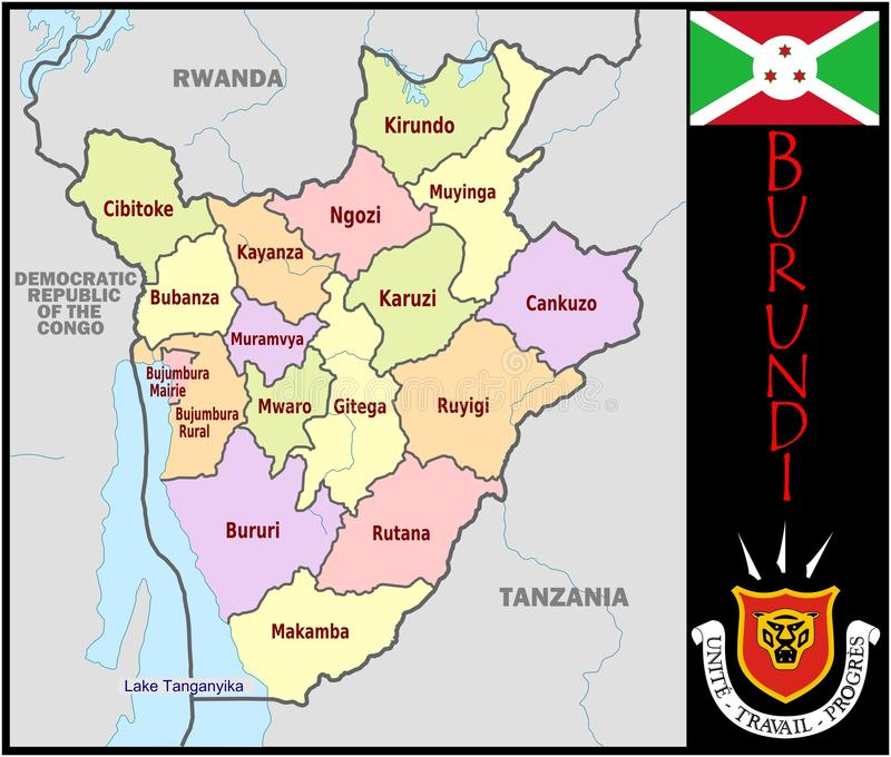 Burundi Administrative Divisions Stock Illustration Illustration