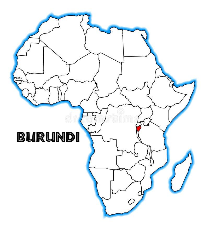 Burundi Africa Map stock vector Illustration of republic 112725520