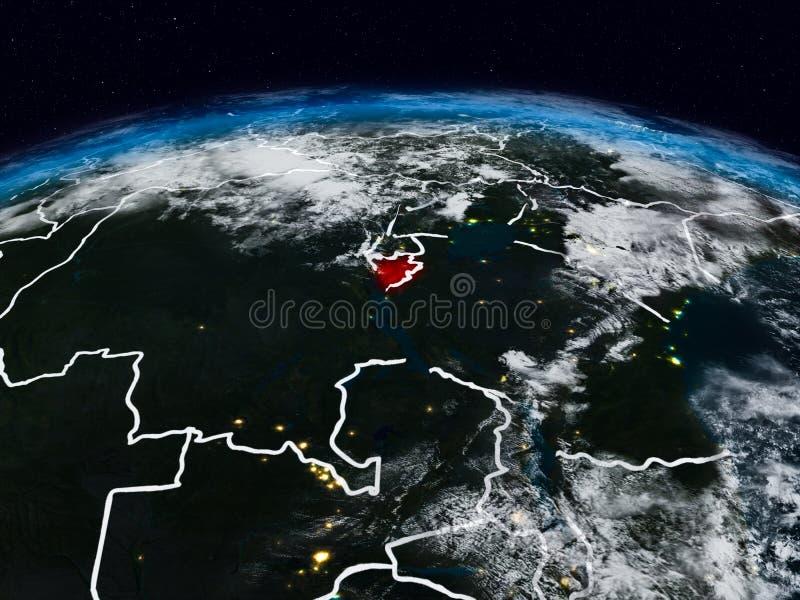 Burundi bij nacht royalty-vrije stock fotografie
