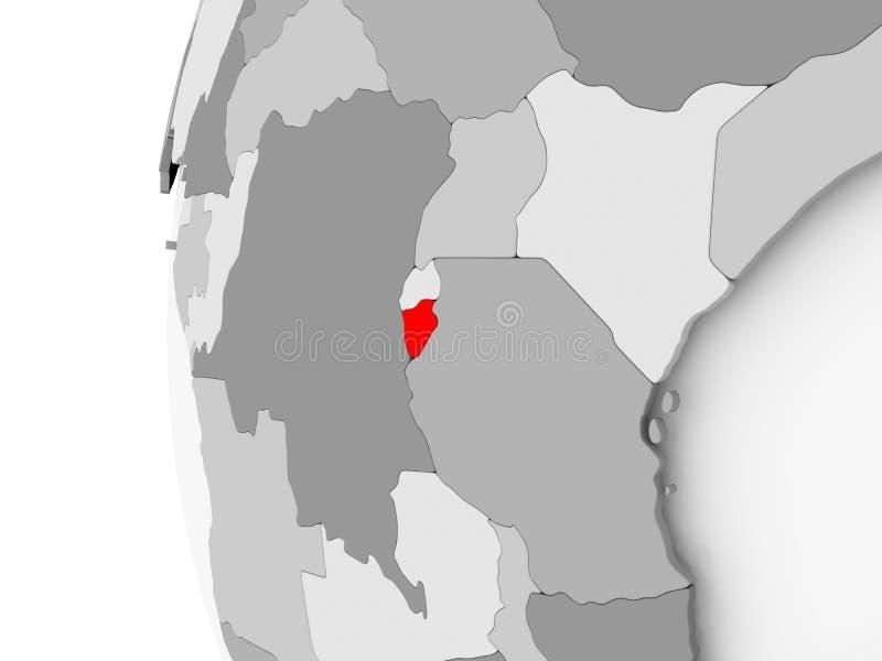 Burundi en el globo gris libre illustration