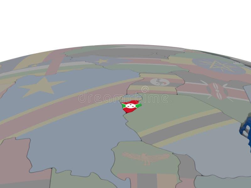 Download Burundi with flag stock illustration. Illustration of burundian - 83718287