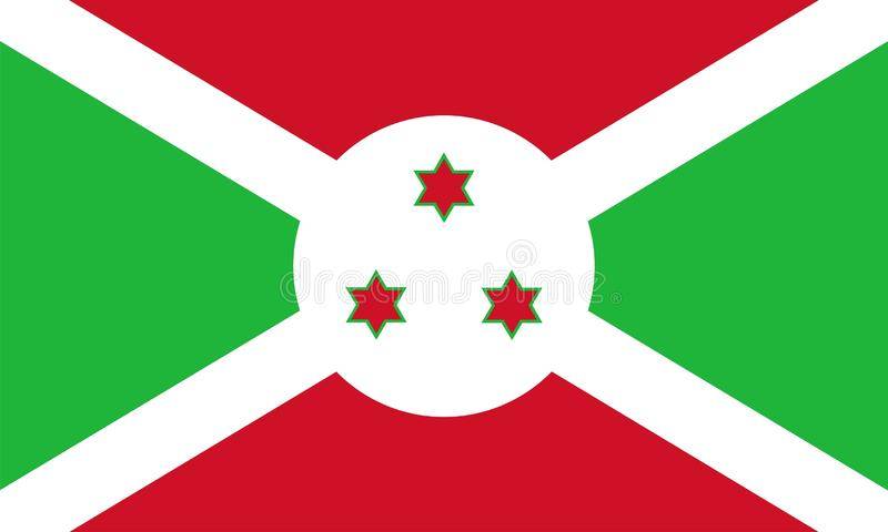 Burundi Flag stock illustration