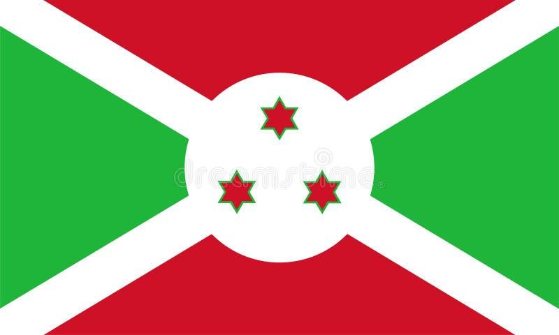 Burundi flagga stock illustrationer