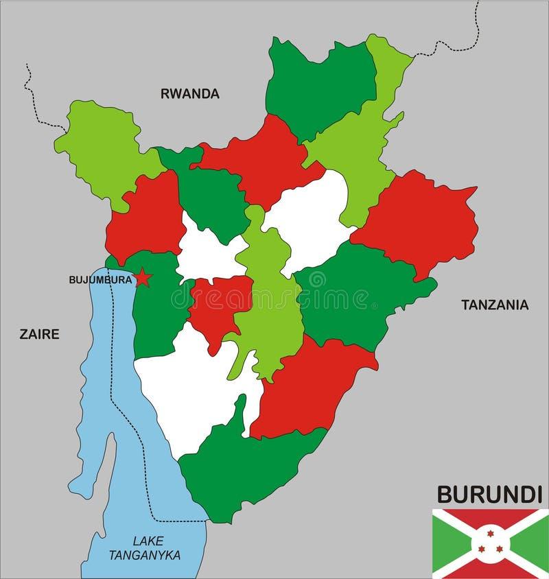 Burundi Map Stock Image