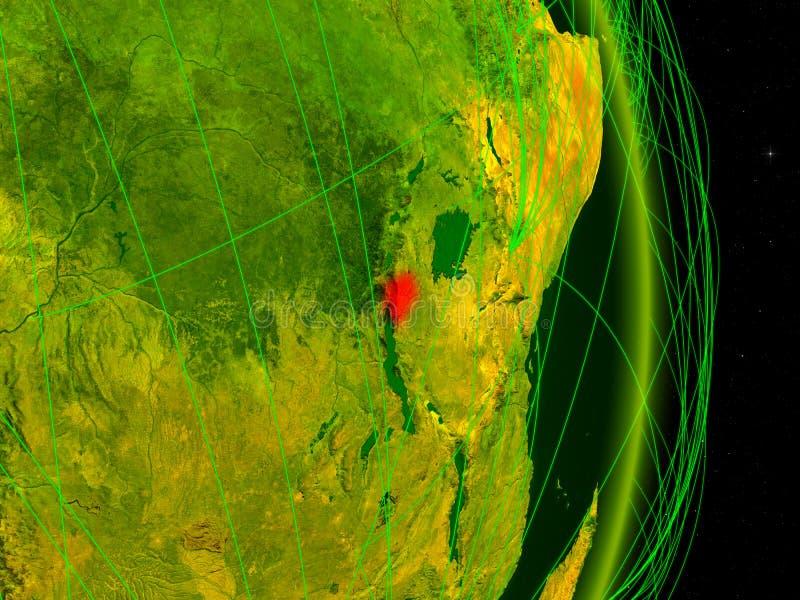 Burundi na terra digital ilustração stock