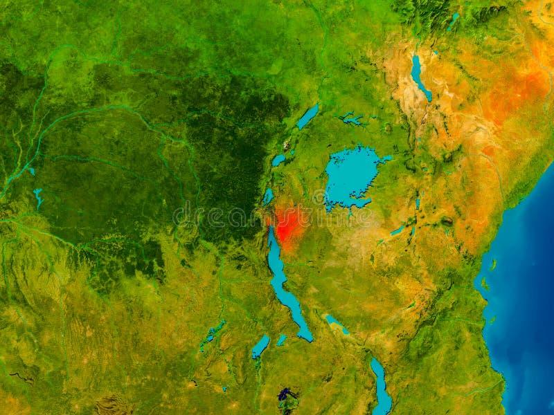 Burundi on physical map stock illustration Illustration of detailed
