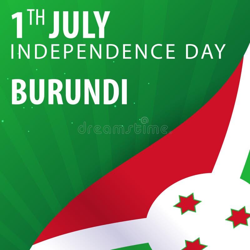 Burundisk självständighetsdagen Flagga och patriotiskt baner också vektor för coreldrawillustration royaltyfri illustrationer