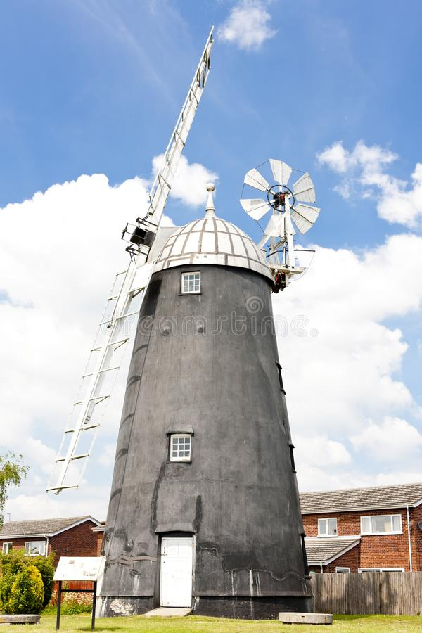 Burwell Windmill, East Anglia, England. Outdoors, outside, exteriors, europe, western, great, britain, united, kingdom, uk, cambridgeshire, county stock images