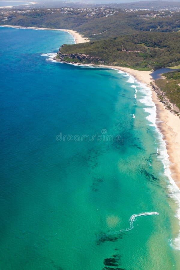 Burwood和达德利海滩-新堡澳大利亚 免版税库存图片