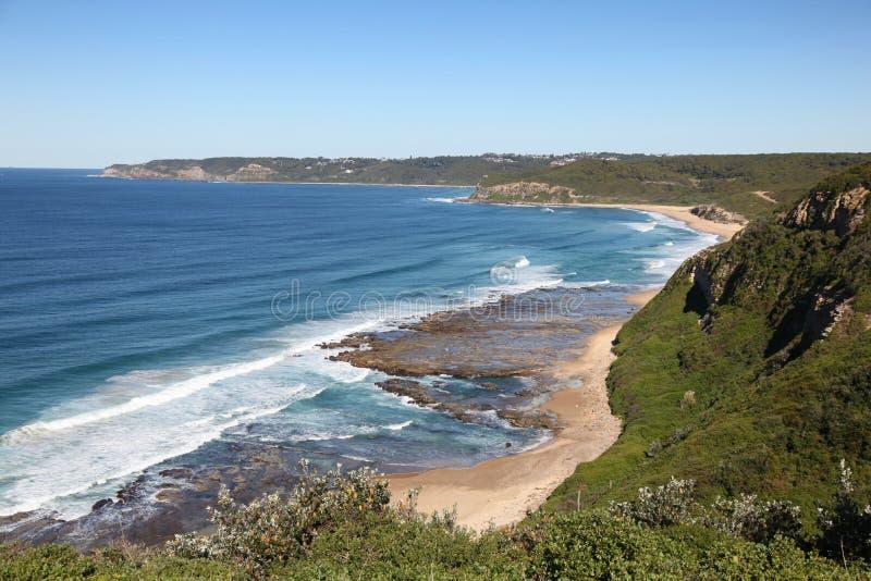 Burwood海滩-新堡澳大利亚 免版税库存图片