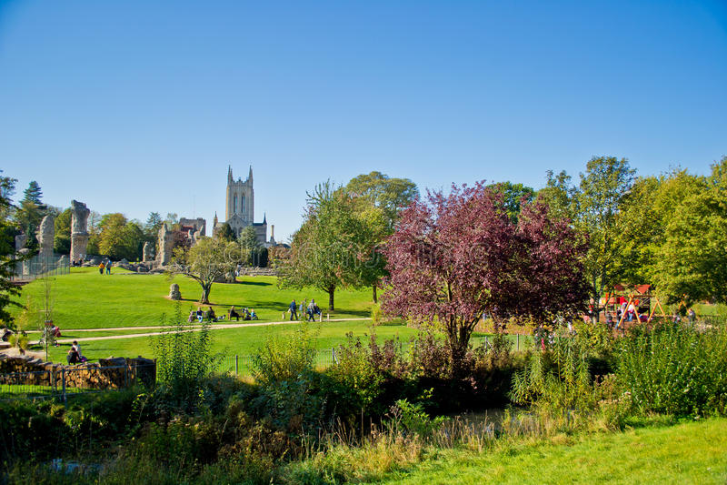 bury katedralny edmunds England st zdjęcia royalty free