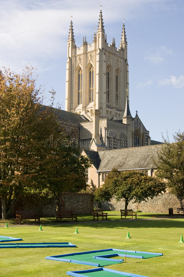 Download Bury St Edmunds Crazy Golf And Cathedral Stock Image - Image: 21489863