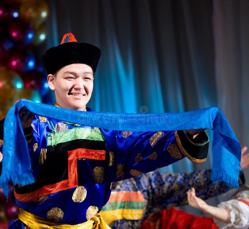 Buryat (Mongolian) dancer stock image