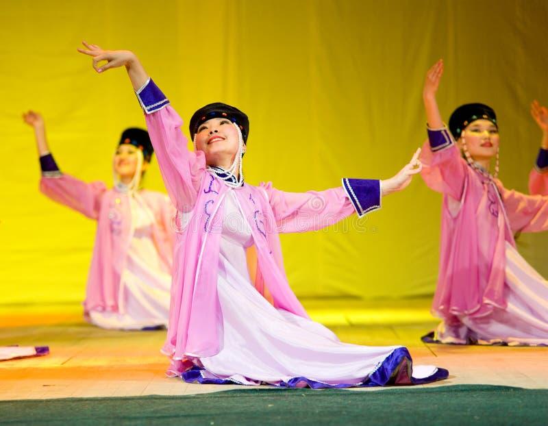 Buryat (Mongolian) dancers stock image