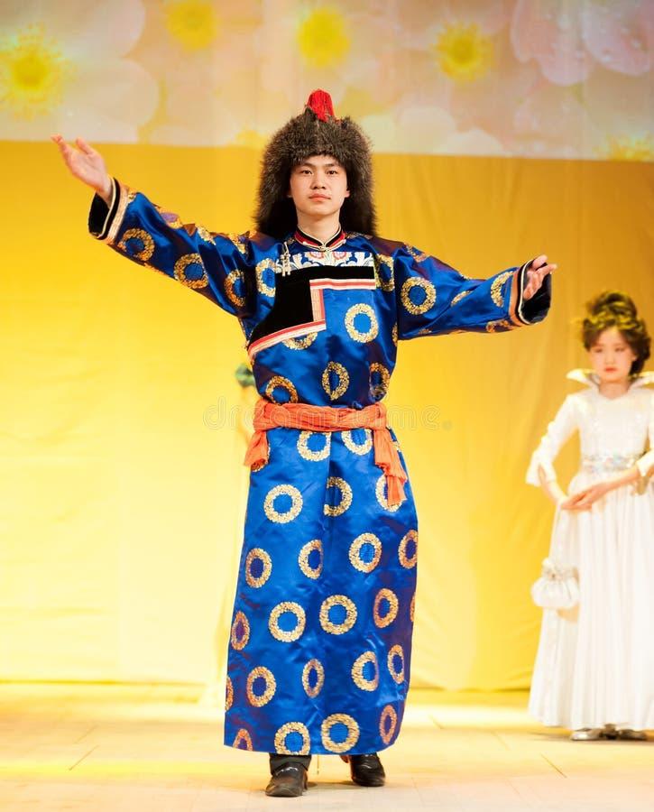 Buryat Mongools model royalty-vrije stock afbeeldingen