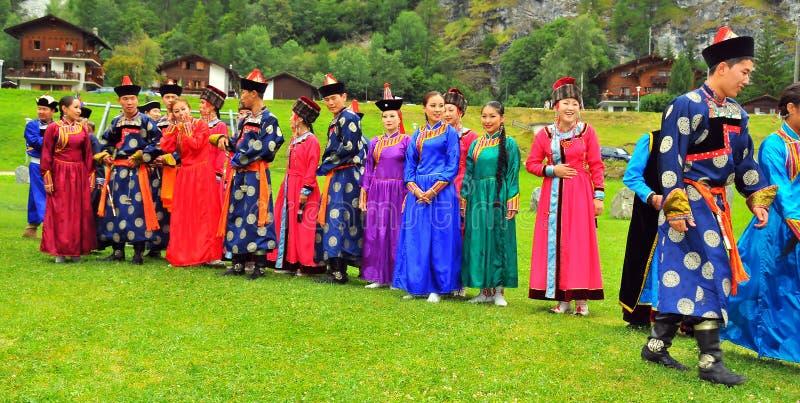 Buryat Tanz-Gruppe stockfoto