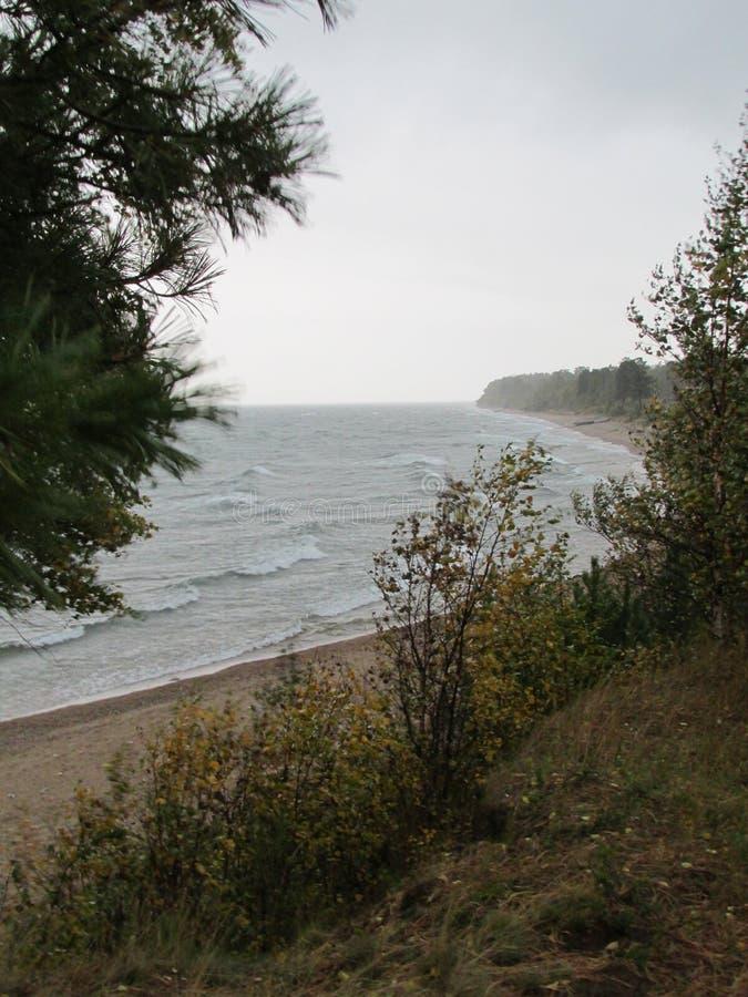 Buryatia baikal λίμνη Ισχυρός άνεμος στοκ εικόνα
