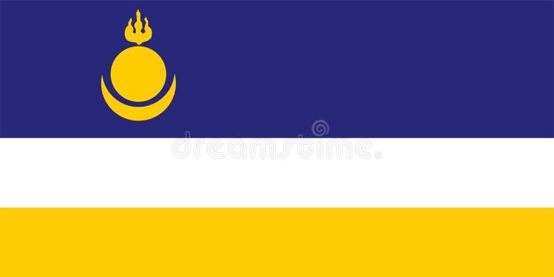 Buryatia sjunker Territorium för rysk federation royaltyfri illustrationer