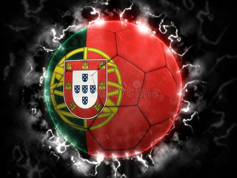 Burza futbol - Portugalia wersja royalty ilustracja