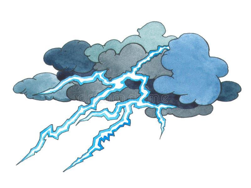 burza grzmot ilustracji