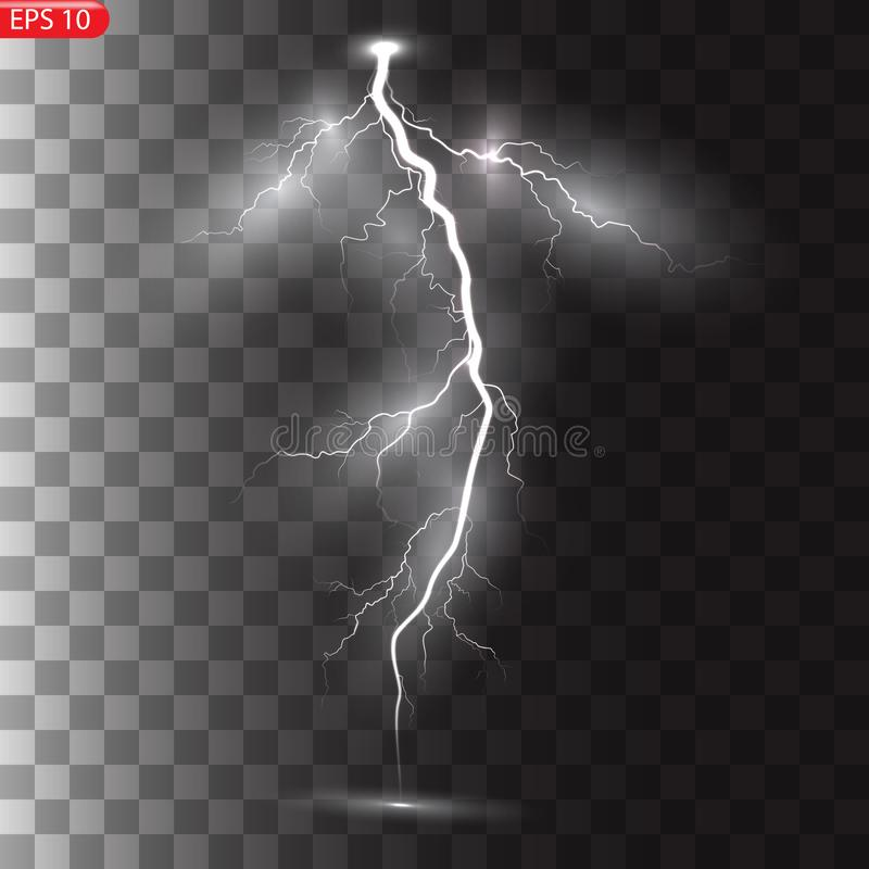 Burza i błyskawicy ilustracji