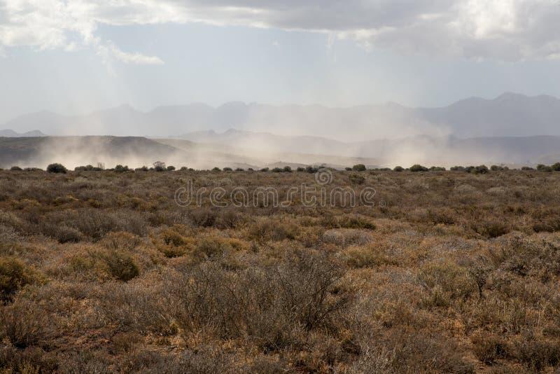 Burza piaskowa Afryka obrazy stock