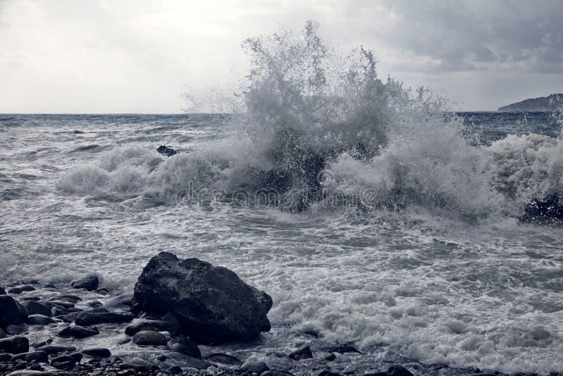 Burza przy wybrzeżem obraz stock