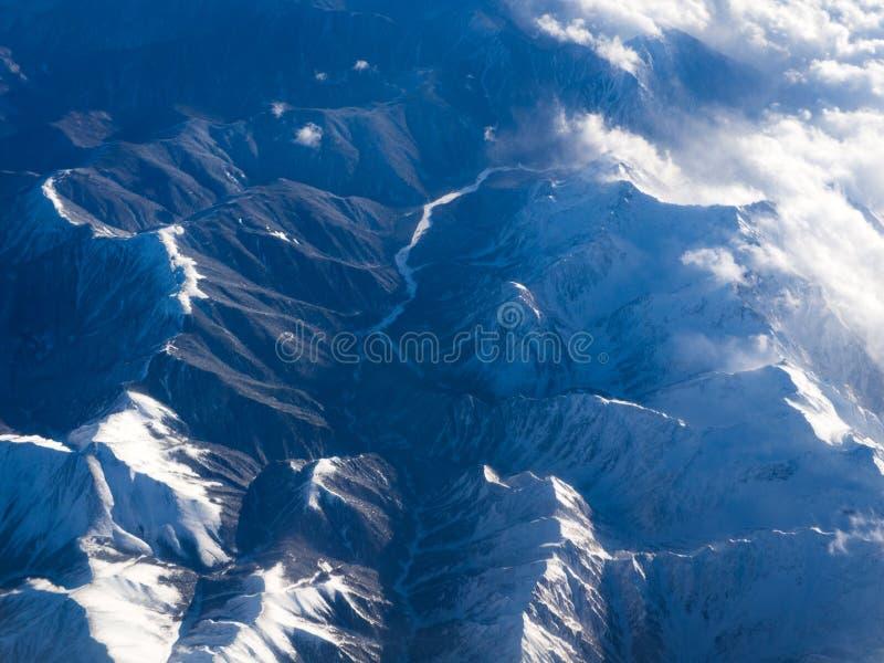 Burza w górach obrazy stock
