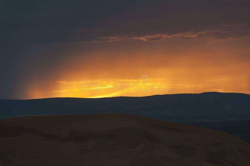 Burza w Pustyni obraz royalty free