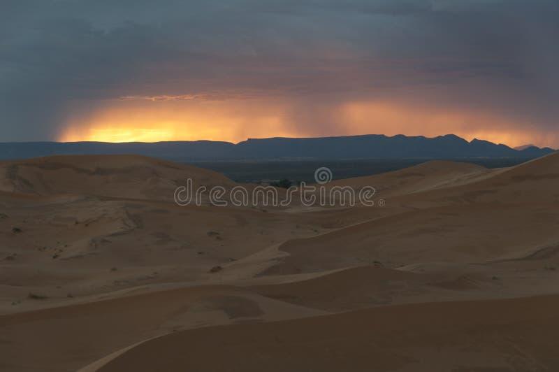 Burza w Pustyni fotografia stock