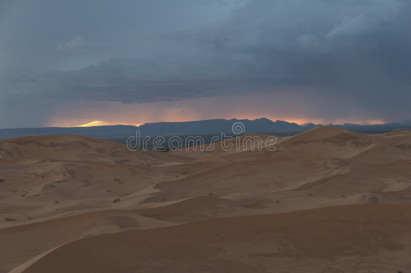 Burza w Pustyni obraz stock
