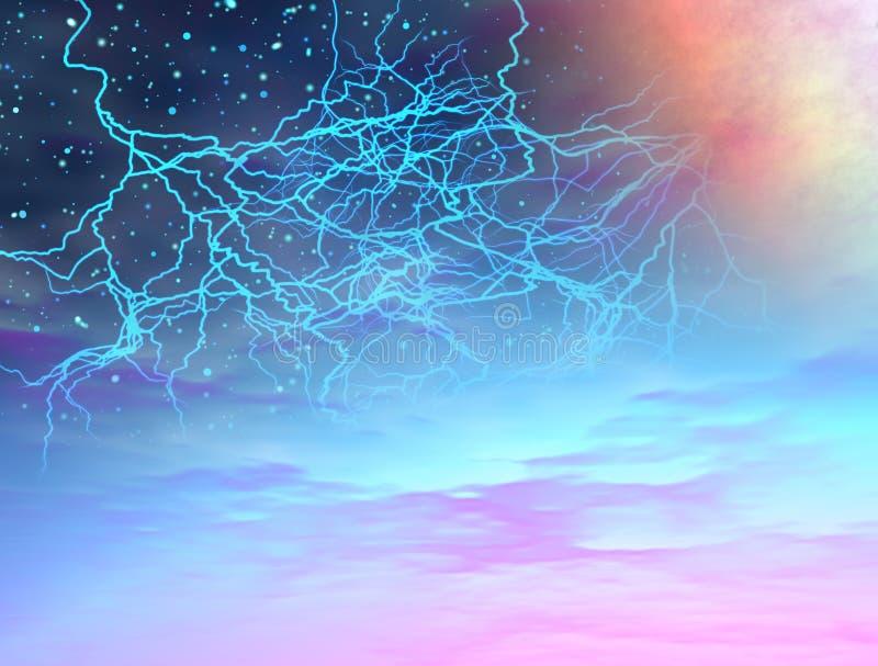 burza wszechświat royalty ilustracja